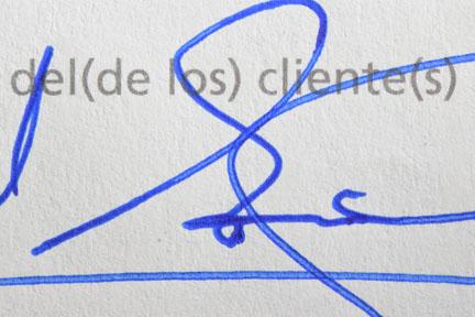 Autenticidad de firmas Salvador Martínez Cañavate